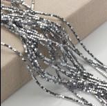 Zdjęcie - Hematyt platerowany kostka ścięta srebrna 2x2mm