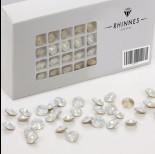 Rhinnes rivoli white opal 8mm
