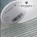 Zdjęcie - Taśma z kryształkami kolor srebrny blue zircon 2mm