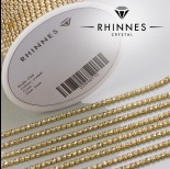 Zdjęcie - Taśma z kryształkami kolor złoty crystal 2mm
