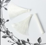 Chwost z wiskozy biały 6,5cm