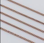 Zdjęcie - Łańcuszek pancerka powlekany 1.9x2.5mm brązowy