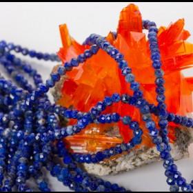 Zdjęcie - Lapis lazuli oponka fasetowana 3x2mm