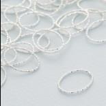 Zdjęcie - Srebrny łącznik  owal diamentowy ag925 16x12mm