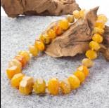 Zdjęcie - Agat oponki ciosane stopniowane bursztynowe 45cm