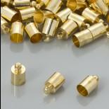 Końcówki do rzemieni kolor złoty 6,5mm