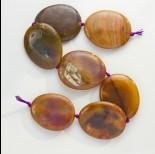 Zdjęcie - Agat owal polerowany brązowy 56x45mm
