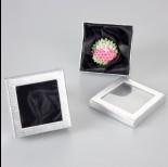 Zdjęcie - Srebrne pudełko z okienkiem 9x9cm