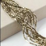 Zdjęcie - Hematyt kostka platerowana złota 2x2mm