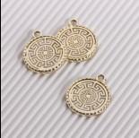 Zdjęcie - Zawieszka ażurowa wzór grecki złoty 22mm