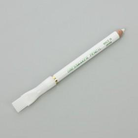 Zdjęcie - Biała kredka krawiecka ze szczoteczką 12cm