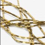 Zdjęcie - Hematyt czworokąt platerowany złoty 4x2mm