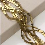 Zdjęcie - Hematyt platerowany sześciokąt płaski złoty 6x6mm