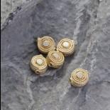 Zdjęcie - Srebrny koralik Ag925 pozłacany 10.5mm