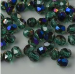 Zdjęcie - Fire Polish Blue Iris - Emerald (BR50730) 4mm
