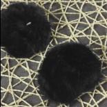Pompon czarny 8cm