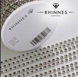 Zdjęcie - Taśma z kryształkami kolor srebrny jet 3mm