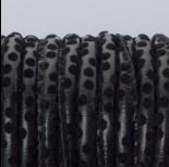 Zdjęcie - Rzemień szyty czarne kropeczki 6mm