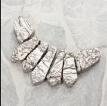 Zdjęcie - Kwarc górski platerowany zestaw do naszyjnika 7 części srebrny