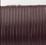 Zdjęcie - Rzemień naturalny płaski lakierowany 3x2mm ciemny brązowy