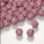Zdjęcie - Kulka shamballa z kryształkami rose  10mm