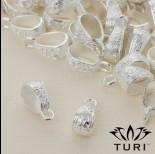 Zdjęcie - Krawatka ze wzorkiem w srebrnym kolorze 17.5x7mm