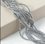 Zdjęcie - Hematyt oponka fasetowana platerowana srebrna 4x2mm