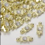 Zdjęcie - Przekładka z kryształkiem koloru złotego crystal  20,5mm
