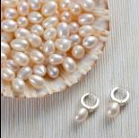 Zdjęcie - Naturalne perły do kolczyków krople 8-9mm