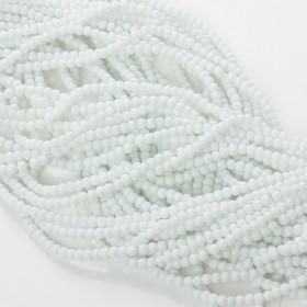 Zdjęcie - Koralik szklany powlekany biały 3mm
