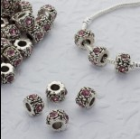 Zdjęcie - Koralik z kryształkami rose 5mm