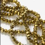 Zdjęcie - Kryształki oponki metalic gold 4x6mm