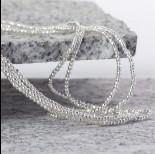 Zdjęcie - Hematyt kulka fasetowana platerowana white silver 2mm