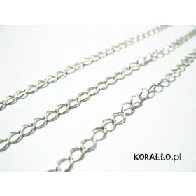 Zdjęcie - Srebrny łańcuch diamentowany 3,3x4,2mm, Ag925