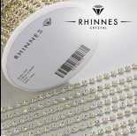 Zdjęcie - Taśma z kryształkami kolor srebrny jonquil 3mm
