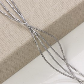 Zdjęcie - Hematyt platerowany słupek kwadratowy srebrny mat  3x1mm