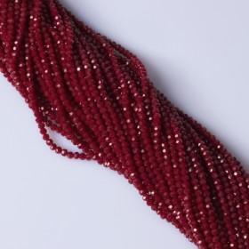 Zdjęcie - Kryształki kulki fasetowane bloody red 3mm