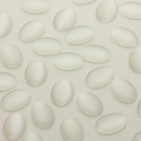 Zdjęcie - Kocie oko kaboszon owal biały 18x13mm