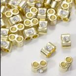 Zdjęcie - Przekładka z kryształkiem koloru złotego crystal  14mm