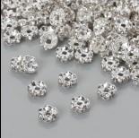 Zdjęcie - Przekładka rondelek z kryształkami crystal 6mm