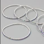 Zdjęcie - Bransoletka z kryształkami multicolor 18-21cm