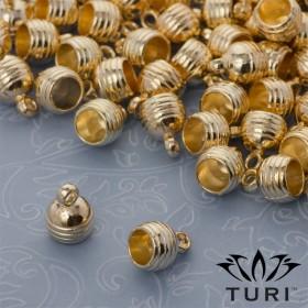 Zdjęcie - Rowkowana końcówka do rzemieni w kolorze złotym 5.5mm