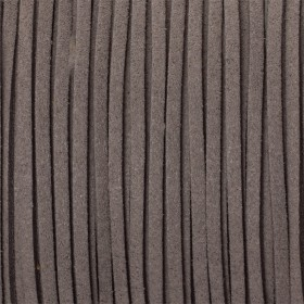 Zdjęcie - Rzemień zamszowy płaski ciemno szary 1x2.5mm
