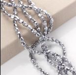 Zdjęcie - Hematyt czaszka jasne srebro 10mm