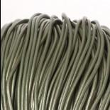 Zdjęcie - Rzemień naturalny lakierowany metalizowany oliwkowy 2mm