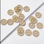 Zdjęcie - Zawieszka łącznik pozłacany ze stali chirurgicznej ażur 18,5mm