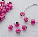 Zdjęcie - Koralik emaliowany pink rose 4.5mm