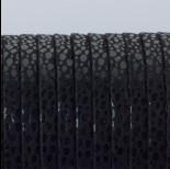 Zdjęcie - Rzemień płaski klejony czarne ciapki 5x1.5mm