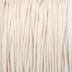 Zdjęcie - Sznurek bawełniany woskowany 1mm ecru