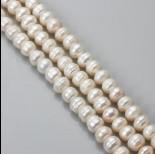 Zdjęcie - Perły naturalne button 7-9mm białe